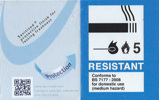 BPR compliant mattress label example